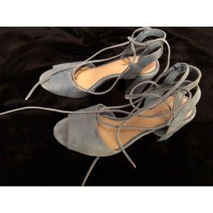 Gianni Bine suede blue heels